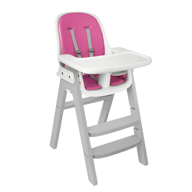 Sprout High Chair - Gray/Pink