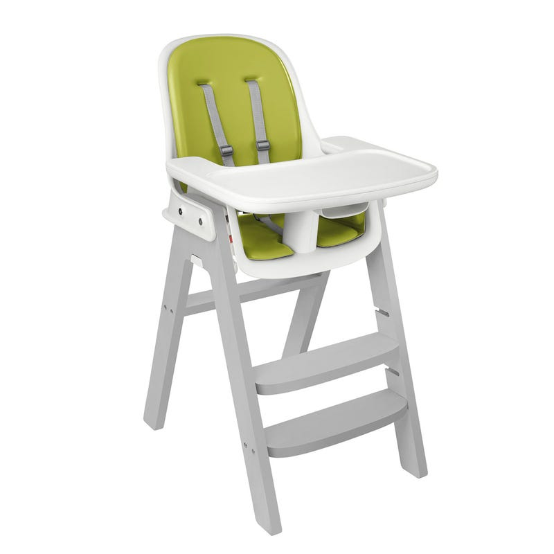 Chaise Haute Sprout- Gris/Vert