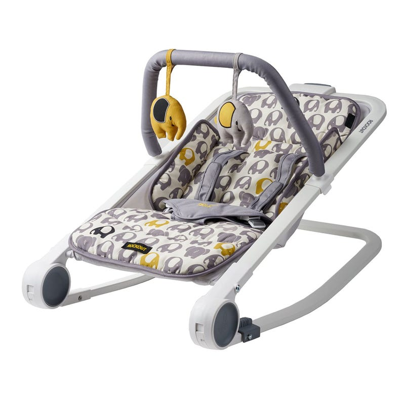 Bouncer Rockout Elephant - Yellow/Gray