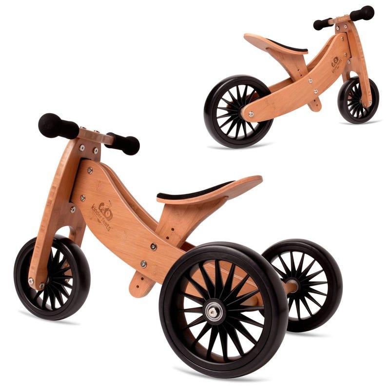 Tiny Tot Balance Bike Plus 2 in 1 - Bamboo