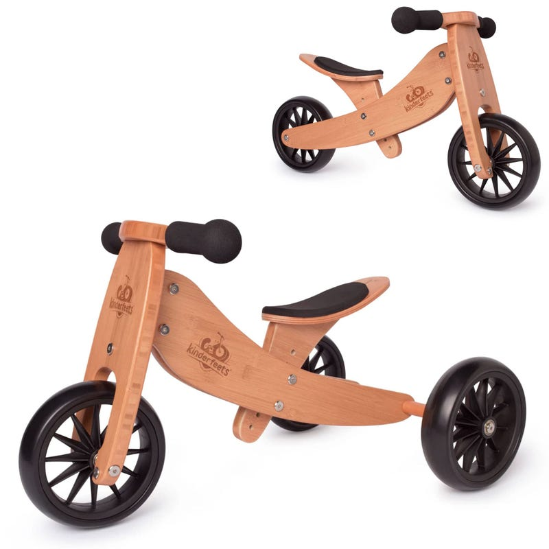 Tiny Tot Balance Bike 2 in 1 - Bamboo