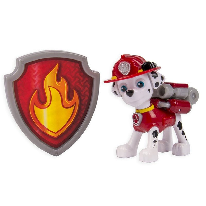 Paw Patrol Figurine and Badge Set - Marshall