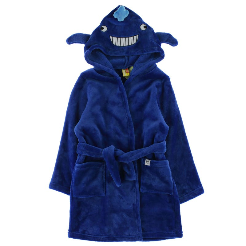 Cozy Animal Robe 2-6y - Moby The Whale