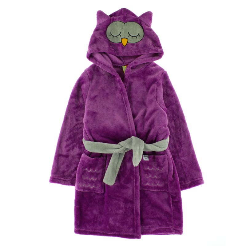 Cozy Animal Robe 2-6y - Olivia The Owl