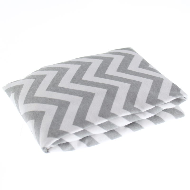 Playpen  Sheet - Gray Chevron