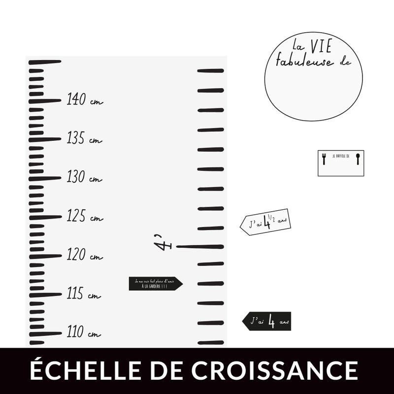 FRENCH Modern Growth Chart - White
