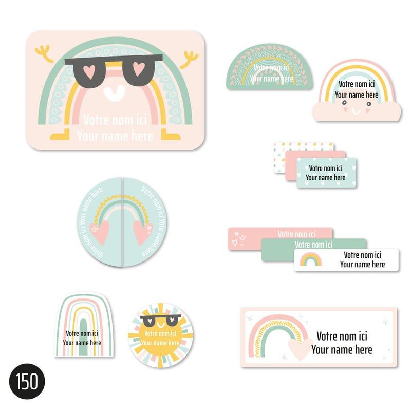 Essential Labels - Pink Rainbows