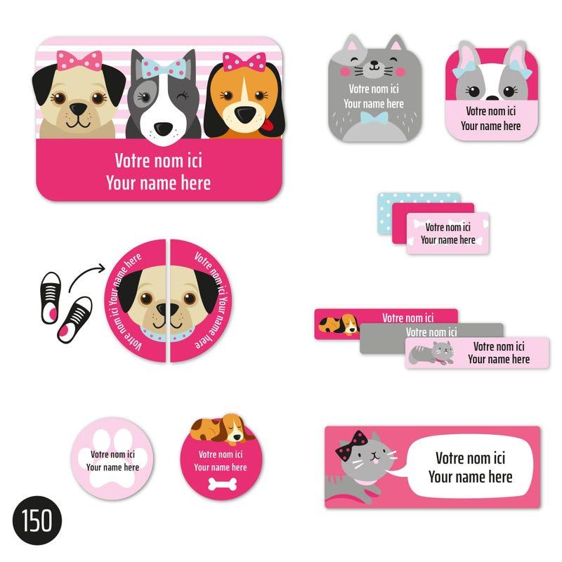 Essential Labels - Pink Dog