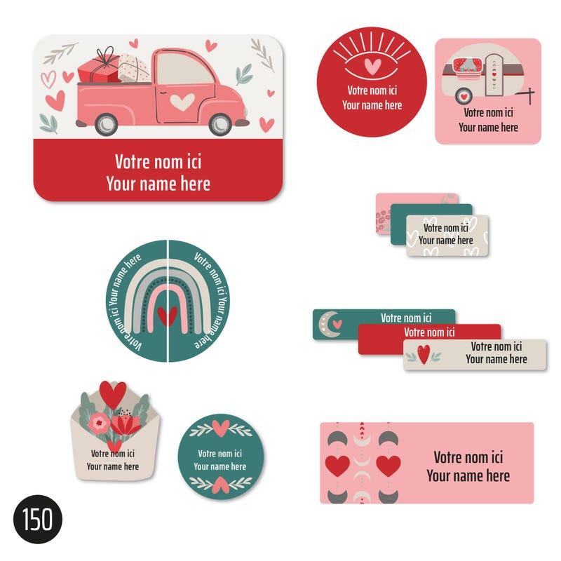Étiquettes Essentiel - Coeurs