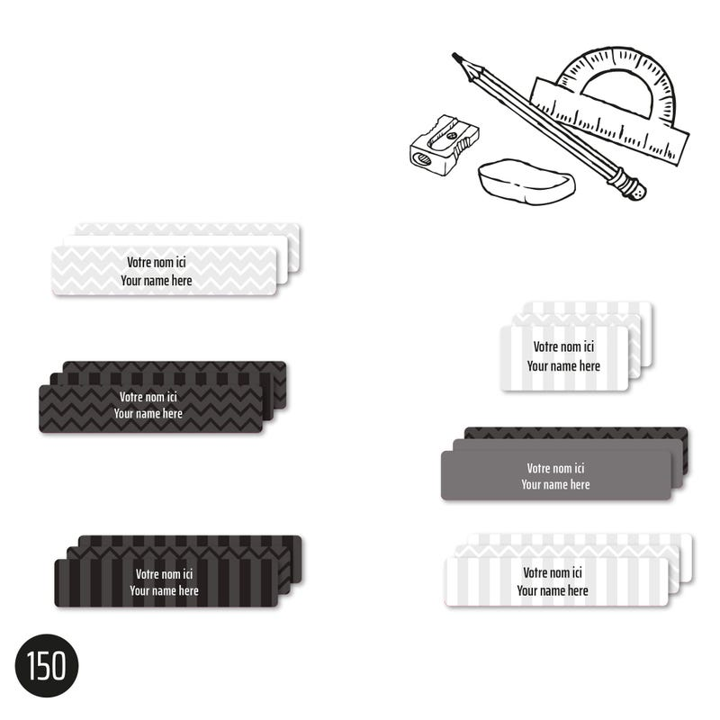 Essential Labels – School grey