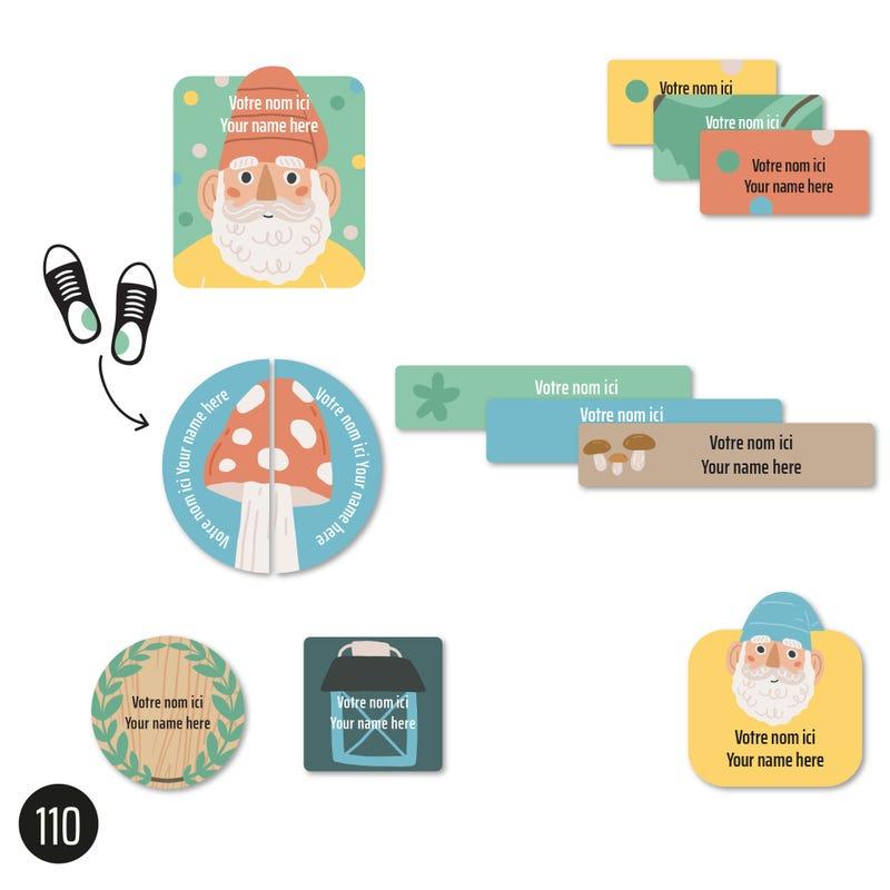 Étiquettes Garderie - Gnomes