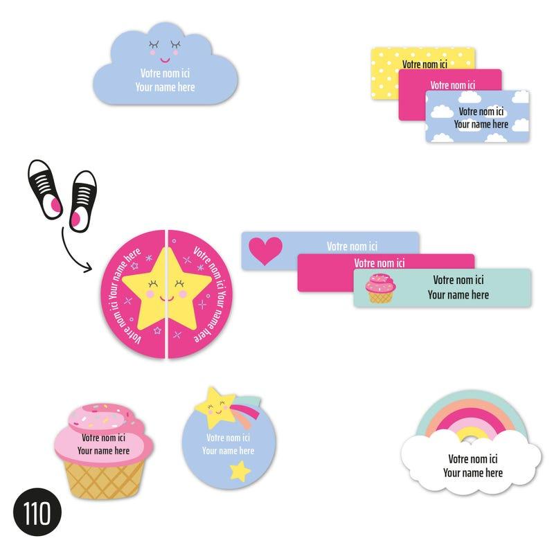 Daycare labels - Unicorn