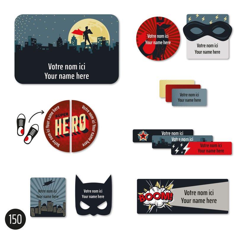 Essential Labels - Super heros