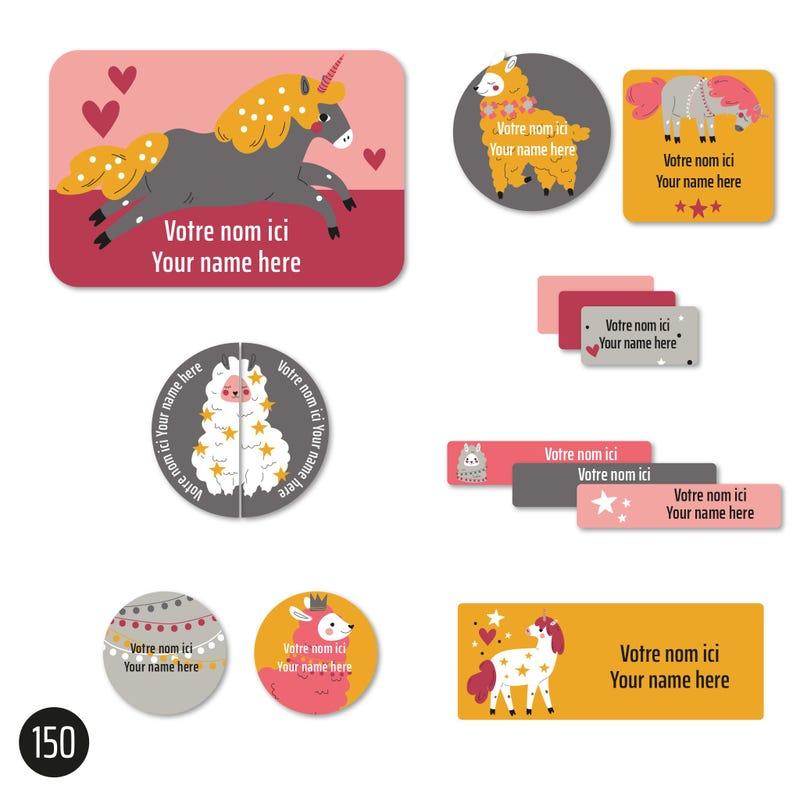 Essential Labels - Llamas