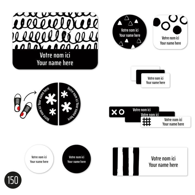 Essential Labels - Black patterns