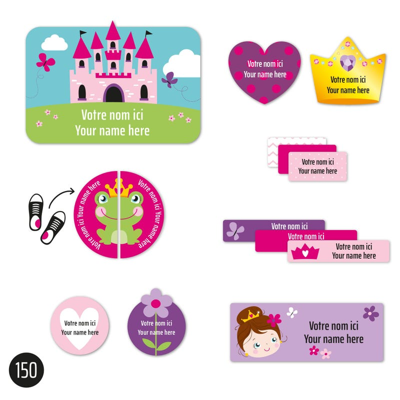 Peel And Stick Name Labels – Princesses