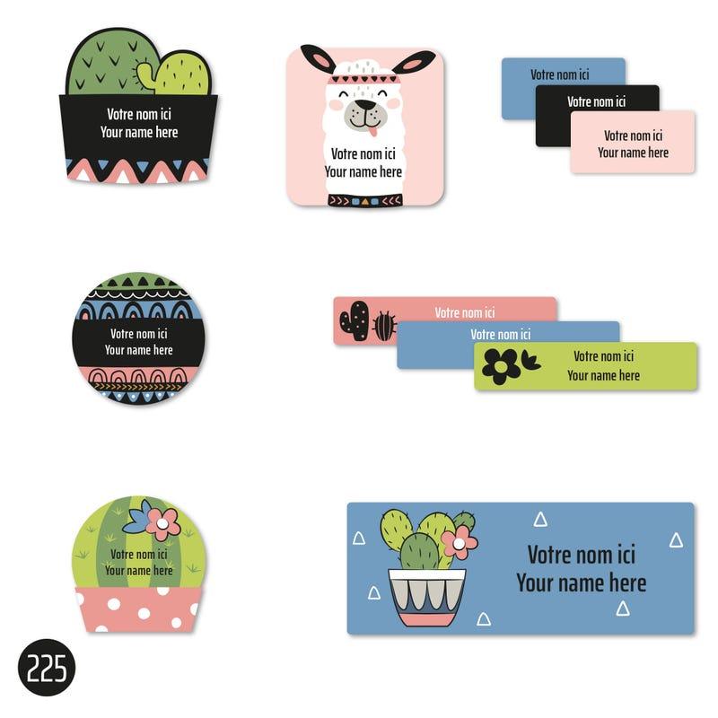 School labels - Cactus