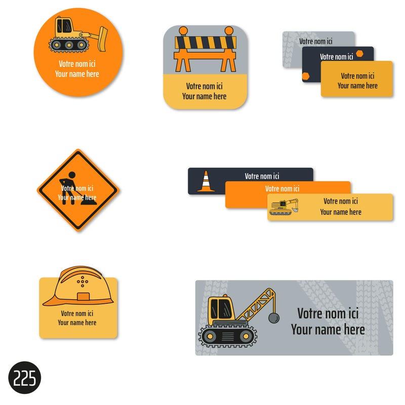 School Labels - Trucks
