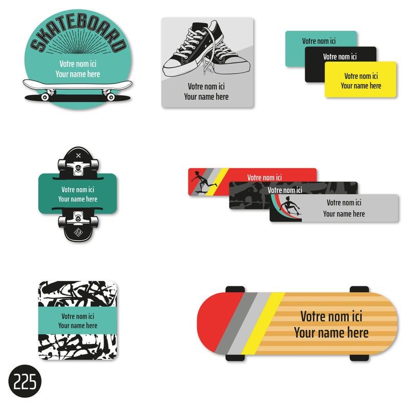 School labels - Skateboard