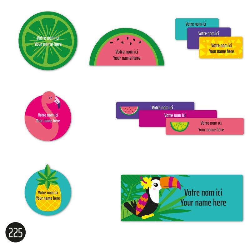 School labels - Tropical