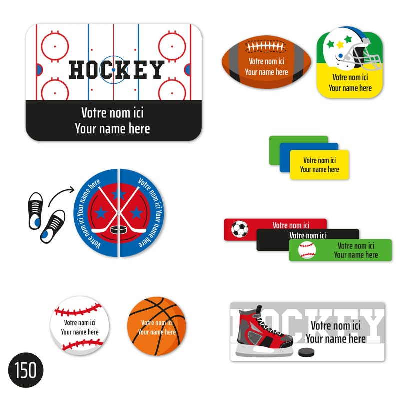 Peel And Stick Name Labels – Sports