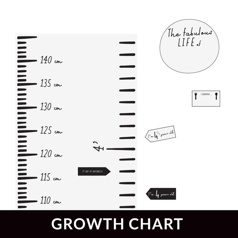 Échelle de croissance Moderne Blanche - ANGLAIS
