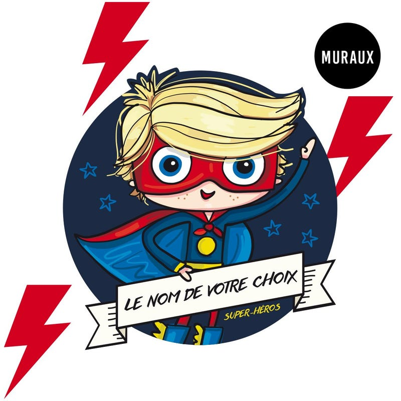 Wall Stickers - Cosmic Superhero
