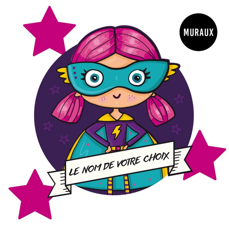 Wall Stickers - Brave Girl Superhero