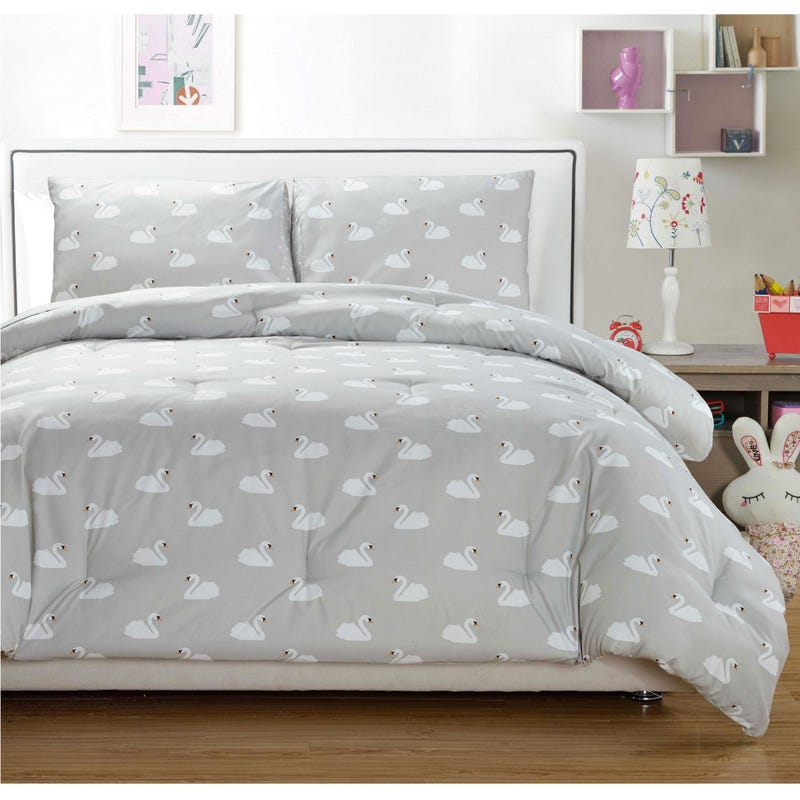 Double Comforter Set  - Co Swan Gray