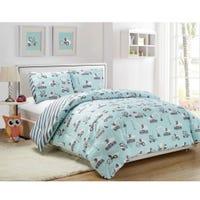 Double Comforter Set Co Construction - Blue