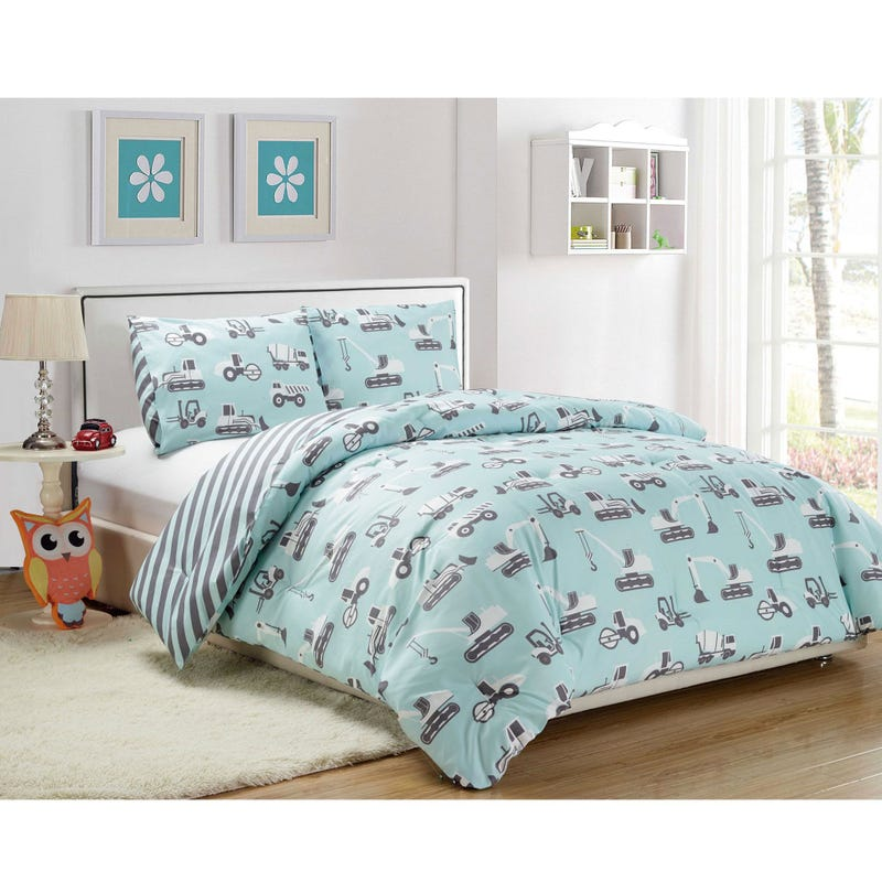 Twin Comforter Set Co Construction - Blue