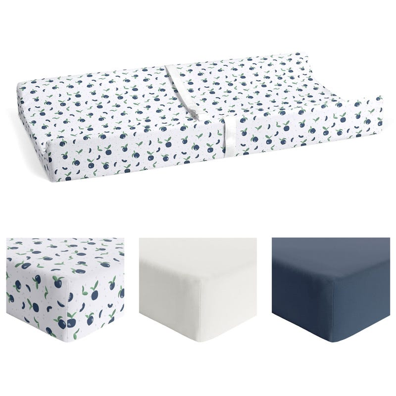 Bundle 3 Changing Pad Cover - Ivory / Blueberry /Navy