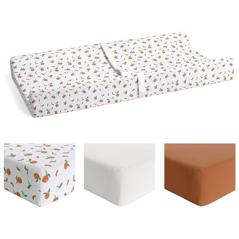 Bundle 3 Changing Pad Cover  - Tangerine / Cuivre / Ivoire