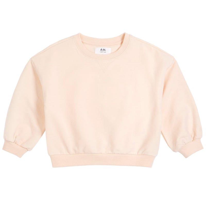 AM Solid Sweatshirt 2-6yx
