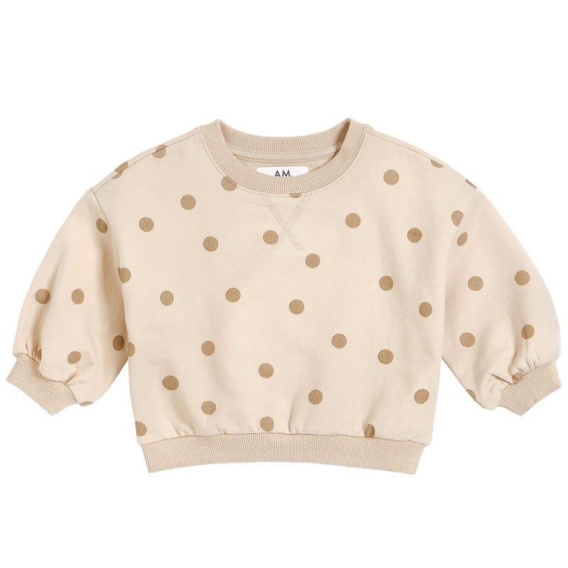 AM Polka Dots Sweatshirt 6-24m