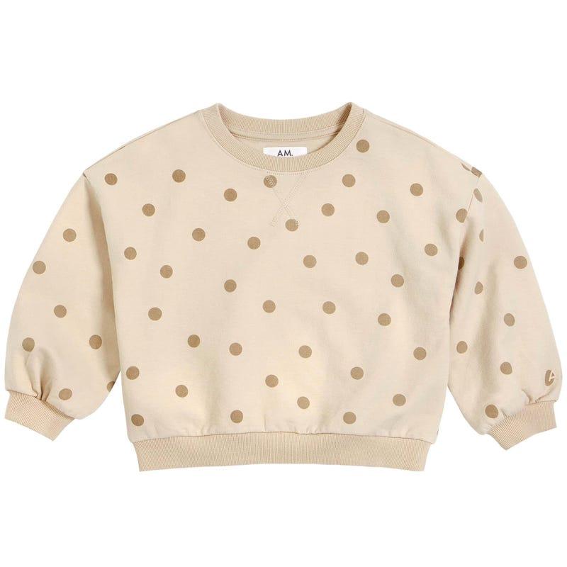 AM Polka Dots Sweatshirt 3-7y