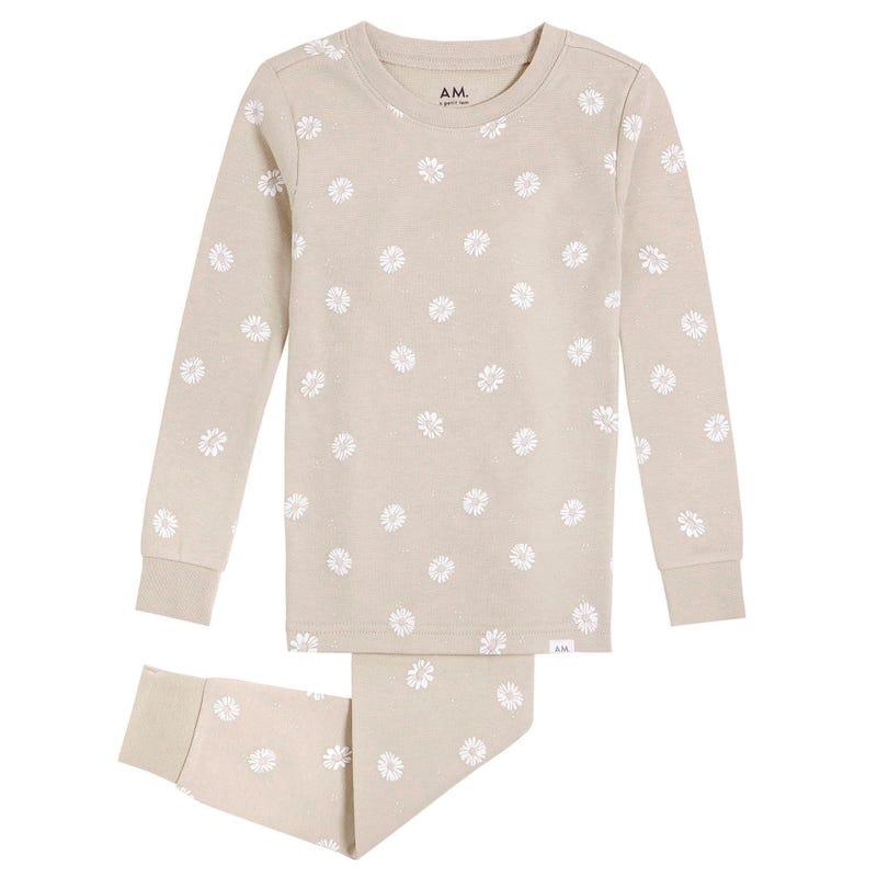 AM Daisies Pajamas 3-6x