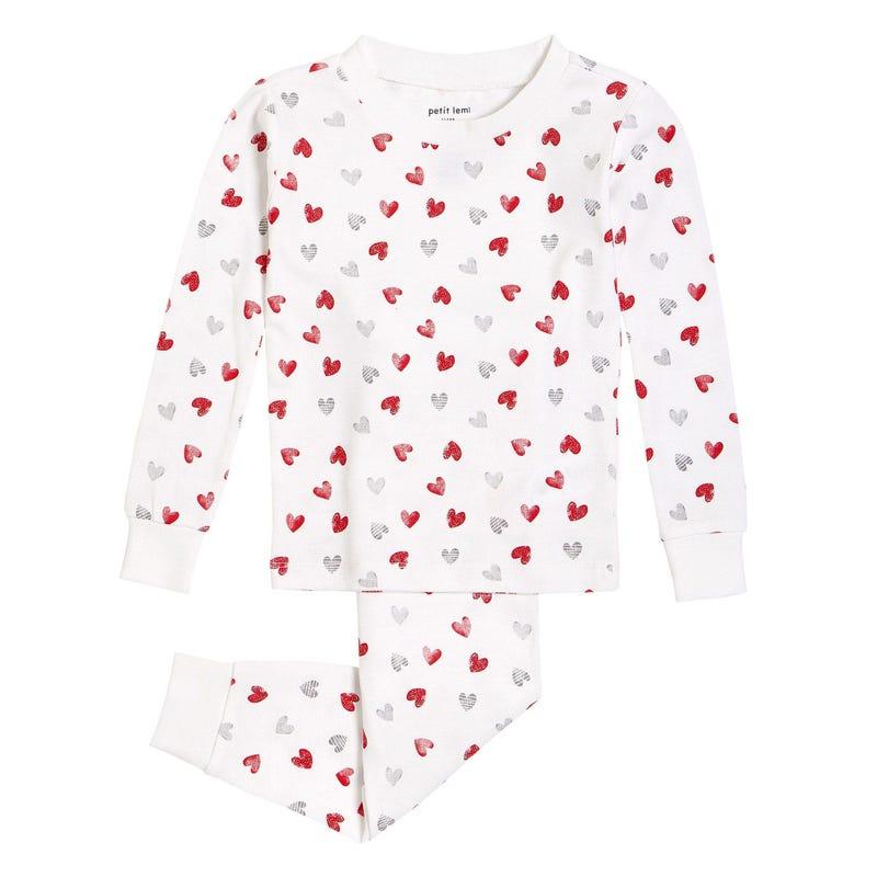 Pyjama 2 Pièces Coeurs St-Valentin 2-7ans