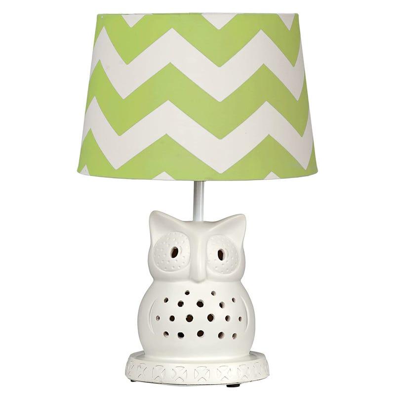 Lampe Hibou - Chevron Vert