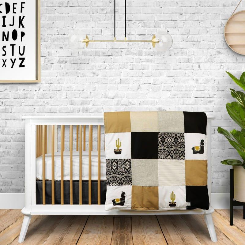 4-Piece Crib Bedding Set - Boho