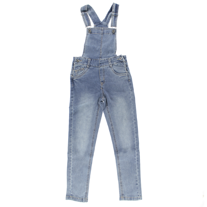Flowers Denim Overall 7-14y