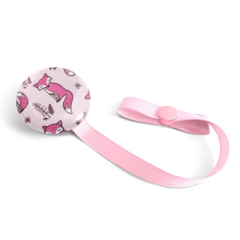 Pacifier Clip - Pink Fox