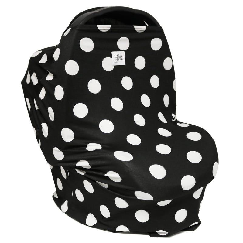 3 in 1 Car Seat Cover/Nursing Scarf - Polka Dots