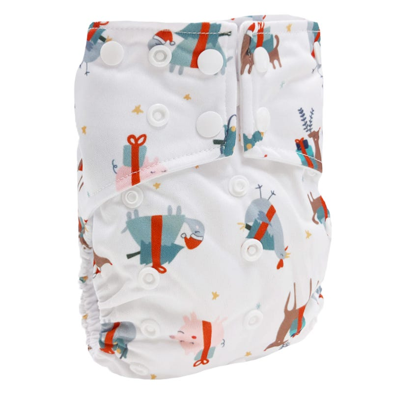 Cloth Diaper 10-35lb - Festive