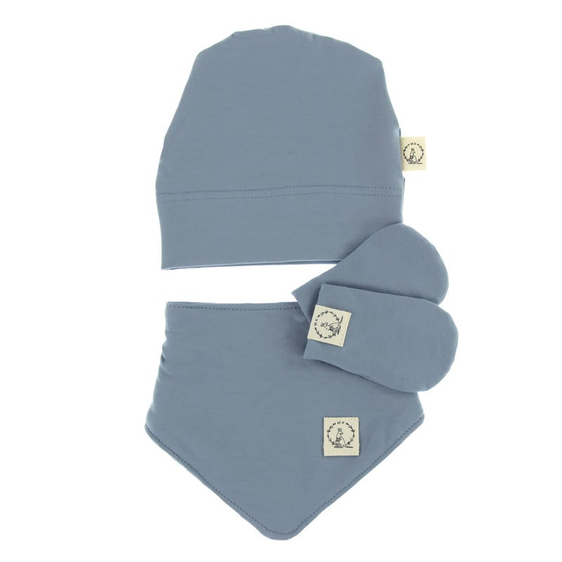 Ensemble Nouveau-né Coton - Bleu Acier