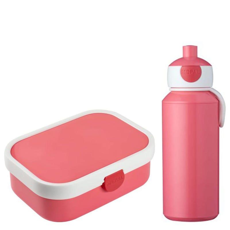 Pop-Up bottle 400ml  + Lunch Box Campus 750ml - Pink