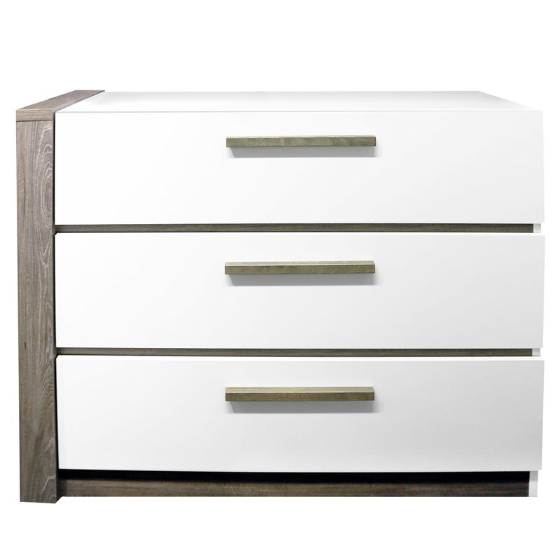 3 Drawers Chest - White/Taupe