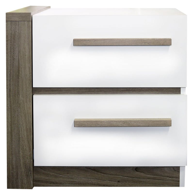 Nightstand - White/Taupe