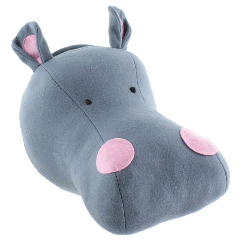 Tête Hippopotame Décorative
