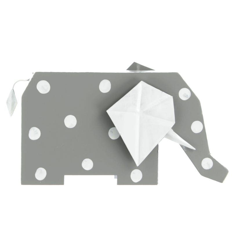 Decorative Dotted Elephant - Gray